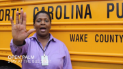 Wanda Kimber, a WCPSS bus driver, explains the new hand signals in one of the ten new safety videos released by Wake County. This past month, WCPSS has implemented mandatory hand signals for bus drivers, as five children were injured last year due to motorists passing stopped school buses. (Photo Courtesy of Wake County Public Schools)