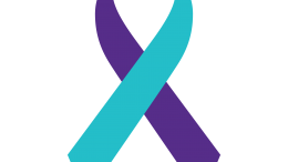 The purple and turquoise Suicide Prevention Ribbon serves as a symbol of awareness and prevention for suicide. In the United States, 1 in every 5 teenagers seriously consider suicide annually.