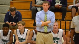 Leesville Road coach Russ Frazier ponders the game during a Pride offensive possession in a game earlier this season. The Pride completed the conference sweep against rival Heritage thursday night.