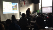 Bailey Mabe, sophomore, presented her project on Monday, December 14. She informed the class of the Peruvian landmark, Machu Picchu.