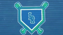 The Leesville Road High School Baseball logo painted by Leesville graduates: Michael Austin, Katie Harris, Shelby Rae, and Mason Flynn. Leesville is known for their strong Varsity Baseball team, making it to the third round of the playoffs last year.