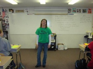 During her 18 years at Leesville, Ms. Engdahl has taught classes in both the trailers and in the main buildings. As of now, she teaches in the downstairs main building. (Photo courtesy of Michelle Engdahl.)