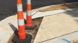 Construction by DeVere Construction company has halted due to financial difficulties. With their absence, sidewalks and other cosmetic fixes were left behind.