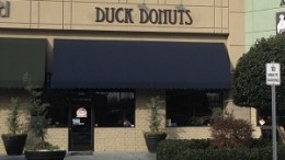 Duck Donuts serves delicious, fresh donuts each day. Everyone is greeted by the friendly duck on the door and welcomed to the fun atmosphere.