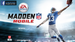 Odell Beckham Jr on Madden Mobile's opening game screen. The football video game has many different game modes, including Season,Head to Head, and League.