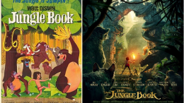 While the 1967 and 2016 versions of The Jungle Book may differ, they both share a sense of childlike wonder. Above are the posters for both of the films.