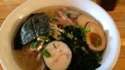 The Shio bowl, one of six ramen bowls available. The bowl includes local chicken and nori. (Photo Courtesy of Jinna Hatfield)