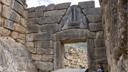 "The Lion Gate at Mycenae stands for strength and unity. While the newspaper was named ""the Mycenaean"" by chance, there are many connections between the ancient city and Leesville."