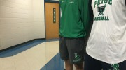 Tyler Stocum and Baldwin Bell representing Leesville baseball through spiritwear on a gameday. With the support of the PTSA and the community, everyone could be supporting the team on game days in the near future.