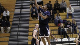 Jalen Benjamin, (5), shoots a floater against Wakefield during basketball season. Benjamin is one of many impressive freshmen athletes, which span across several sports. Photo Courtesy: Varsity Views