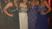 Anne Marie Cawley, sophomore, Natalie Carpenter, Rachel Golden, and Cayley Kennedy, juniors, snapped a quick photo to capture their prom night. The girls, all in different prom groups, stayed at the prom for approximately one hour.