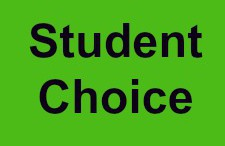 The student choice awards are given out at the end of every semester. There is usually only one student choice award per class, though other individual awards are given out also.