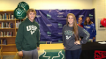 Meredith and Matt pose for a picture at Meredith's signing day at Leesville back in 2014. Meredith is now a sophomore at USF and Matt is a senior at Leesville.