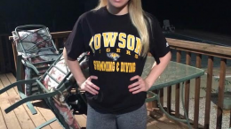 Jacki Schoening committed to swim for Towson University in the fall. Now, she uses that commitment as motivation to keep working in and out of the pool.