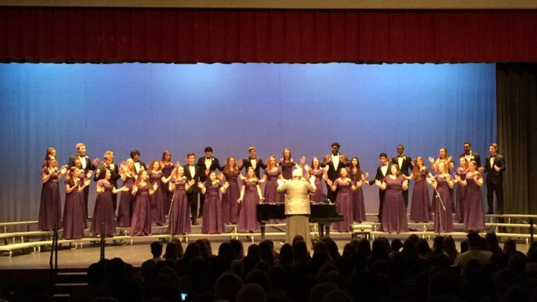 Capital Pride performs during the spring chorus concert. This is the last chorus concert for the 2015-2016 school year. (Photo courtesy of Alapika Jatkar)