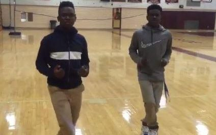 Jeremiah Hall and Kevin Vincent doing the Running Man Challenge. The Running Man Challenge has now spread across social media.