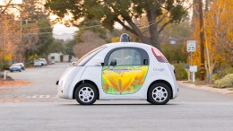 A Google self-driving car navigates through a road in Mountain View, California. The Google self-driving car project is meant to change the way we drive for better.