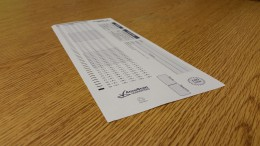 A scantron used for tests. Are these really so evil?