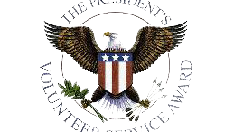 The logo for the Presidential Service Award, offered for students at Leesville. The Award recognizes students that complete 25 or more service hours in a 12-month period. Photo courtesy of www.eiu.com.