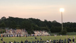 Leesville receives a kickoff from Garner to begin the second half.  The Pride suffered their second loss of the season.