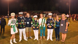 A few of Leesville's band members hold up the trophies they won from their competition against Pinecrest. Their first competition was a major success as they won in every category of the competition. (Photo Courtesy of Alyssa Montgomery)