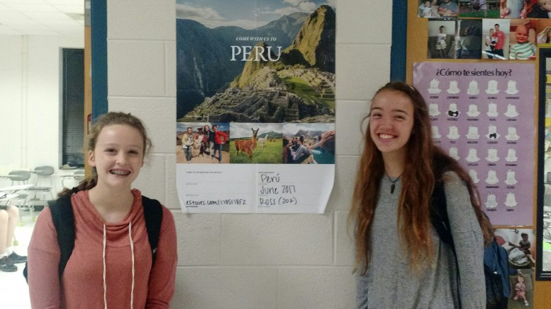 Isabel Dauman and Eliza Bohinski, both sophomores, are two of twelve students who are going to Peru in June of 2017. They are looking forward to the deepening of their understanding of the Peruvian culture and practicing their newly acquired Spanish skills.