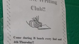 The Creative Writing club meets in Room 131 every 2nd and 4th Thursday. This club is ran by Sarah White, a creative writing minor and the creative writing teacher.
