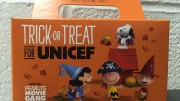 A UNICEF Trick-or-Treat collection box used by kids around the world. Out of every dollar raised, 90 cents will go towards helping children.