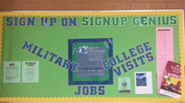 Colleges and military representatives visit Leesville throughout the year. The visits are held in the Career Center or in the Media Center conference room