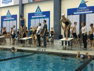 A typical swim meet consists of 11 events-- eight individual and three relay. The four competitive swimming stroke are freestyle, backstroke, butterfly, and breaststroke.(Photo Courtesy of Mariana Herrera Caro)