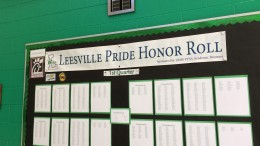 The bulletin board in the main lobby contains lists of A and A/B Honor Roll students for each grade. To find out if you can receive lunch or a snack, check the board for your name. (Photo courtesy of Erin Darnell)