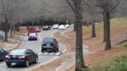 Leesville students rush to get off campus for lunch on a chilly December day. As Leesville collectively enters Second Semester, many seniors look forward to easing the rigor of their daily lives. Photo Courtesy of William Sease.