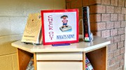 Some of the new books are displayed on the shelves in the front of the media center. Some of these books have been very much anticipated by Leesville students. (Photo courtesy of Sarah Stoflet)