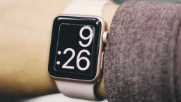 Rose Gold series 1 Apple Watch with a customized time preface. These watches are available for purchase in many stores with an electronics department. (Photo Courtesy of Yazmin Battee)
