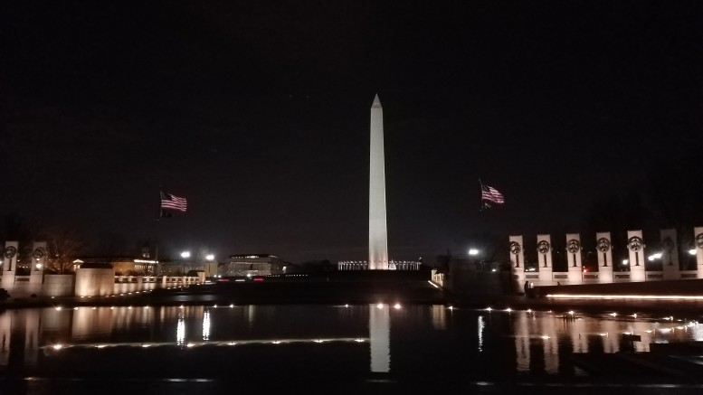 Above is a photo of the Washington Monument taken from inside the WWII Memorial. The National Mall is just one of the many iconic places Mainstage visited during their excursion in Washington D.C. (Photo Courtesy of Will Hollerung)