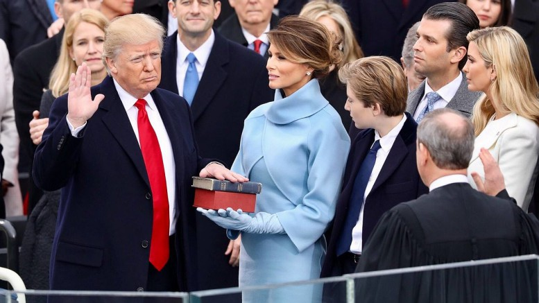 Since his inauguration on January 20 (pictured above), Donald Trump's presidency has been marked by fulfilled promises and widespread controversy. We'll take a look at what President Trump has done in his first month in office. (Photo Courtesy of the White House)