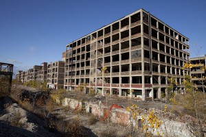 One of President Trump's goals as president is to bring jobs back to the United States from places like Mexico, China and Vietnam. He believes that bringing manufacturing jobs back will prevent urban blight, as pictured above. He has proposed a tariff that would force American-based companies to pay a 20% tax on any goods they produce in Mexico and send to the US. (Photo used with permission of Albert Duce)