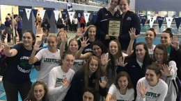 Leesville girls and Enloe boys both had a repeat win at this year's Cap-8 swimming championship. The girls dominated the swim meet, winning by almost 300 points. Photo courtesy of Abby Toburen
