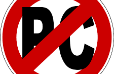 PC, or politically correctness, is a huge issue within the United States and is continuing to grow. The photo is a common trend for anti PC protests and movements.