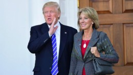 Betsy Devos, pictured with President Trump after her official nomination. DeVos was confirmed as Secretary of Education on February 7, 2017.