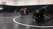 The Pride wrestling team practices after school in preparation for their individual regional tournament. After a successful regular season, the team hopes to make an impact in the tournament. (Photo Courtesy of Jonathan Spear)