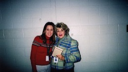 Ms. Wedge with a fellow English teacher, Ms. Harris, during one of her first years at Leesville. Wedge has been at Leesville for 20 years, teaching everything from 11 grade English to speech. (Used by permission of Amy Wedge)