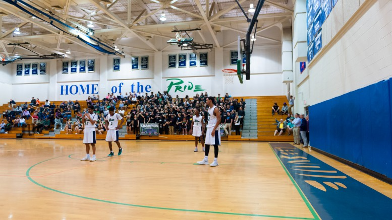 The Pride prepare for the next play against Millbrook, on Feb. 20. They hold a 17-9 record heading into the state playoffs this week against the D.H. Conley Vikings.  (Photo Used by Permission of Bob Stewart)