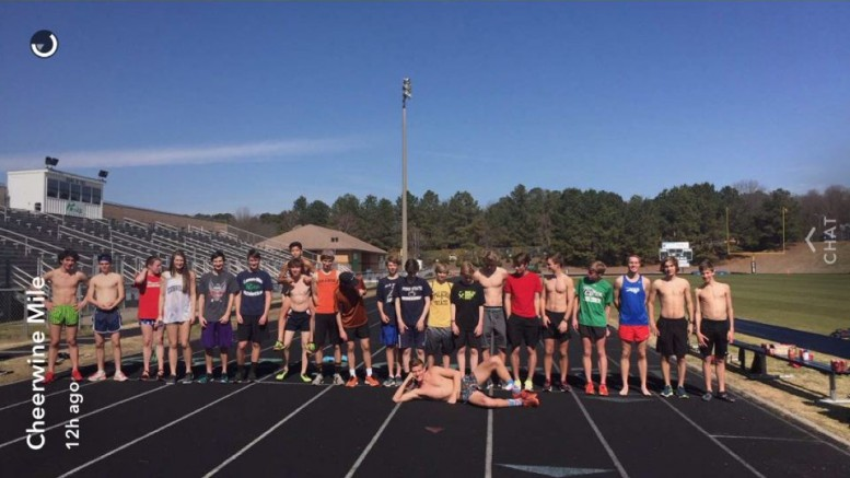 The 3rd annual track Cheerwine mile was hosted at the Leesville track one month ago. The mile is a great way to challenge your running, and your stomach. (Photo used by permission of Jamal Mohamad.)