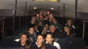 The Pride women's soccer team poses for a picture on the bus after the 3-1 win. Now they prepare to take on the Heritage Huskies (Photo used by permission of Rachel Golden)