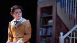 Pictured, Emily Foley acts in Blue Stockings at the Shenandoah Conservatory. (Photo used by permission of Emily Foley)