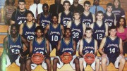 The Leesville 2000-01 men's basketball team was comprised of some of the top players in the area, including Shawan Robinson, Mike Land, and Anthony Richardson, a McDonald's All-American. The Pride ended the season as the state runner-up and finished with an overall record of 24-5. (Photo courtesy of The Menagerie)