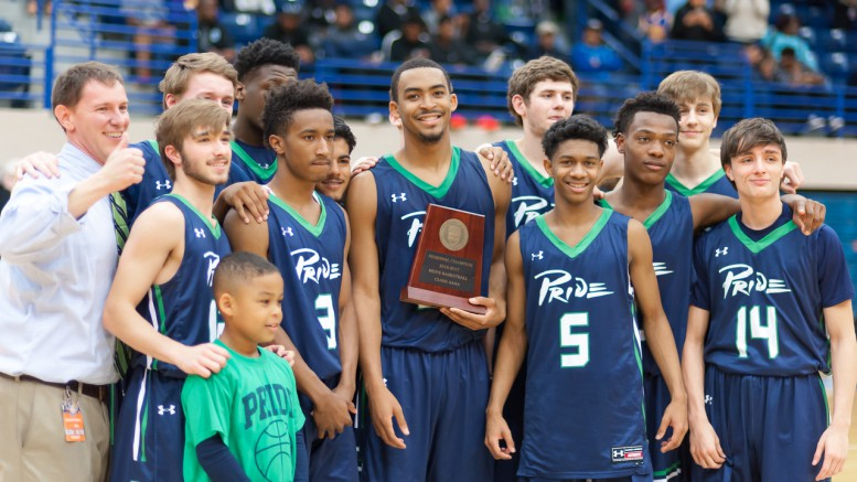 The Pride pose for their picture with the 4A Eastern Regional Champion trophy. Leesville Road will play in the 4A State Championship Game this Saturday. (Photo Used By Permission of Bob Stewart)