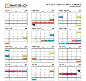 wcpss traditional calendar 2020
