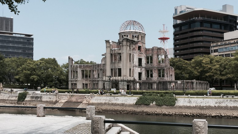 The Genbaku or A-Bomb Dome, was the only building near the hypocenter that was still standing after the bombing. I was privileged to visit Hiroshima and see the sights and sounds of the city and its infamous past. Photo Courtesy of Jonathan Spear.